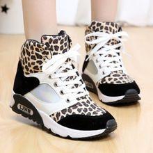 Sexy Leopard women fashion sneakers sports shoes flat walking shoes high-top sneakers women shoes autumn winter