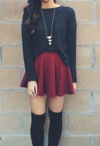 una falda rojo