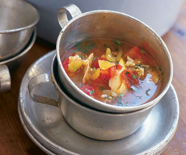 Spicy Tomato Broth with Couscous & Chicken Recipe