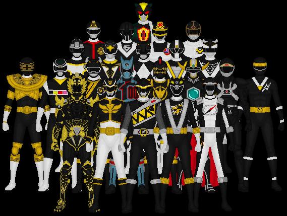 All of Super Sentai's Blacks by Taiko554 on deviantART