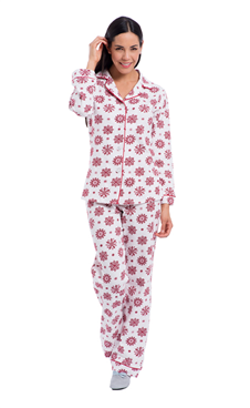 e092abf35 Just in Time for Christmas - Matching Mom   Me Red Snowflake Pajamas ...