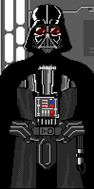 Darth Vader Al No Tan Detalle Star Wars Art Pixel Art