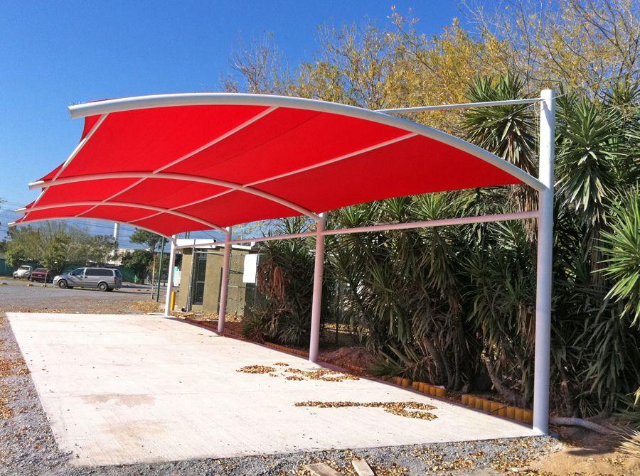 Cochera velarias pinterest cochera estacionamiento for Modelos de techos para cocheras
