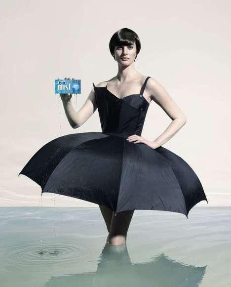 Umbrella dress, Crazy dresses, Recycled dress
