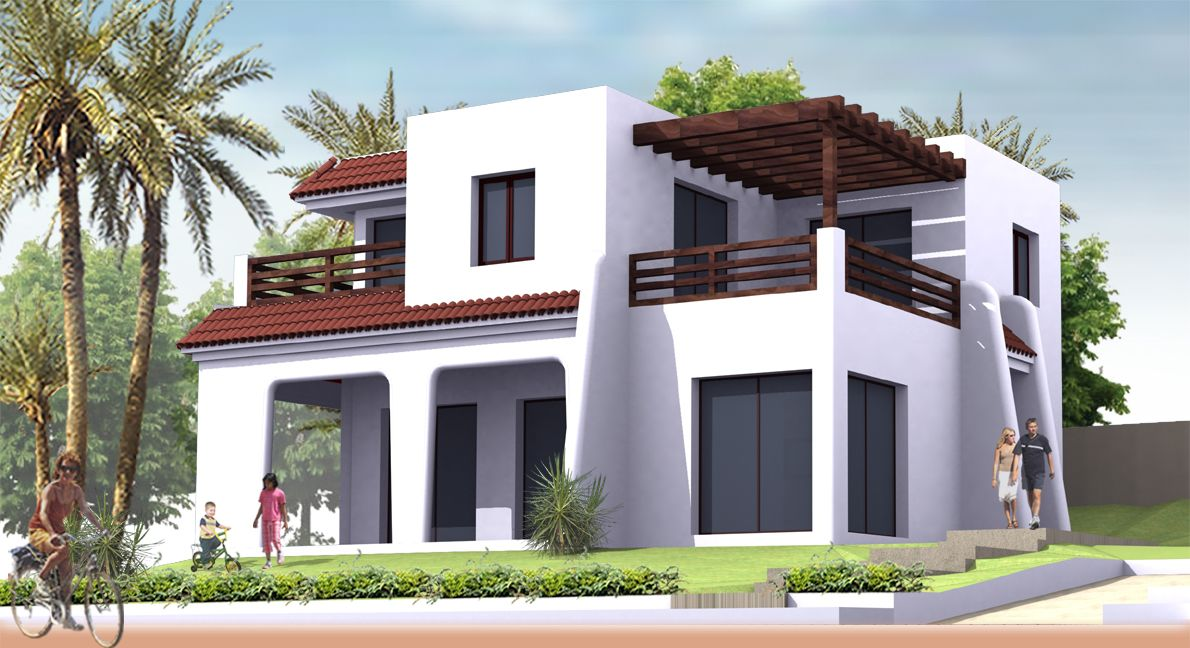 Emejing plan moderne de villas pictures amazing house for Plan des villas modernes