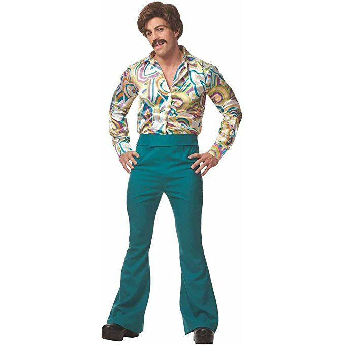 MEN/'S FUNKY DISCO COSTUME SHIRT AND BELL BOTTOMS SIZE STD