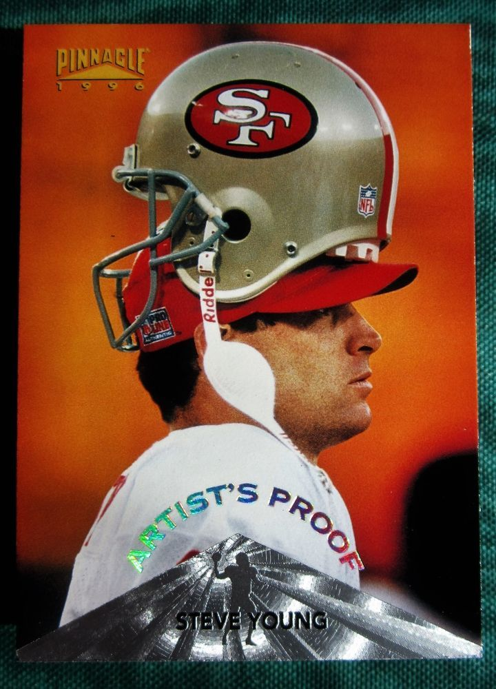 1996 steve young artists proof pinnacle football card