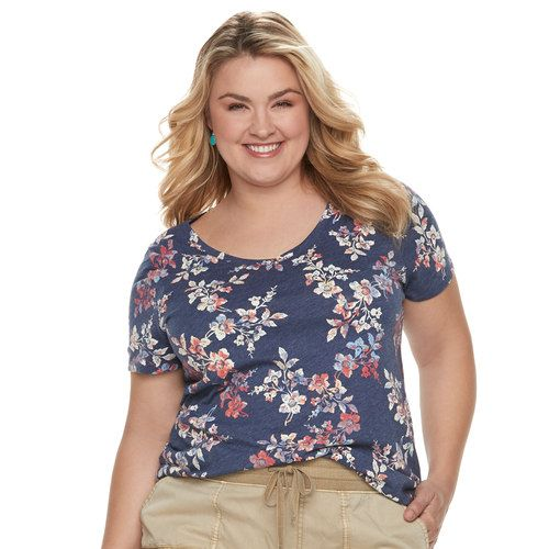 152d689fdc9 Plus Size SONOMA Goods for Life™ Essential V-Neck Tee