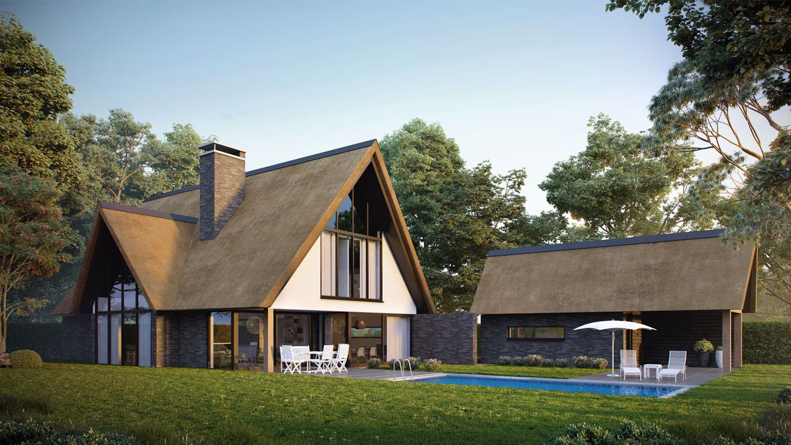 Architect Kleine Woning : Modern landelijke woning ede bongers architecten bna small houses