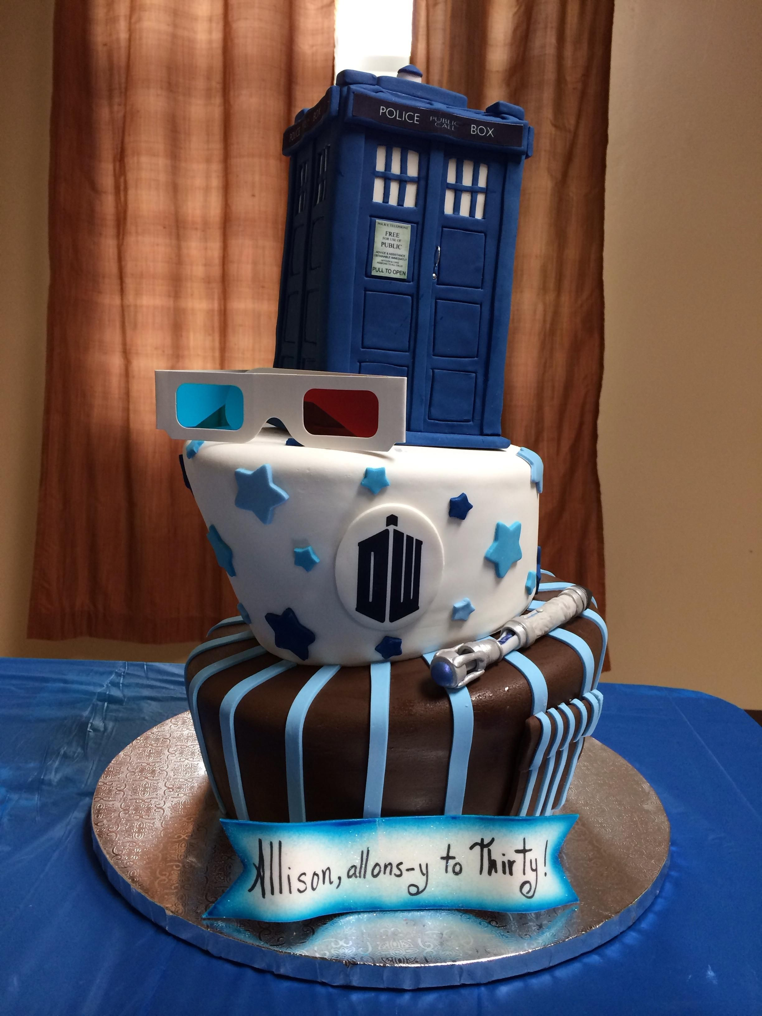 Doctor Who cake for my wifes thirtieth birthday Birthday cakes