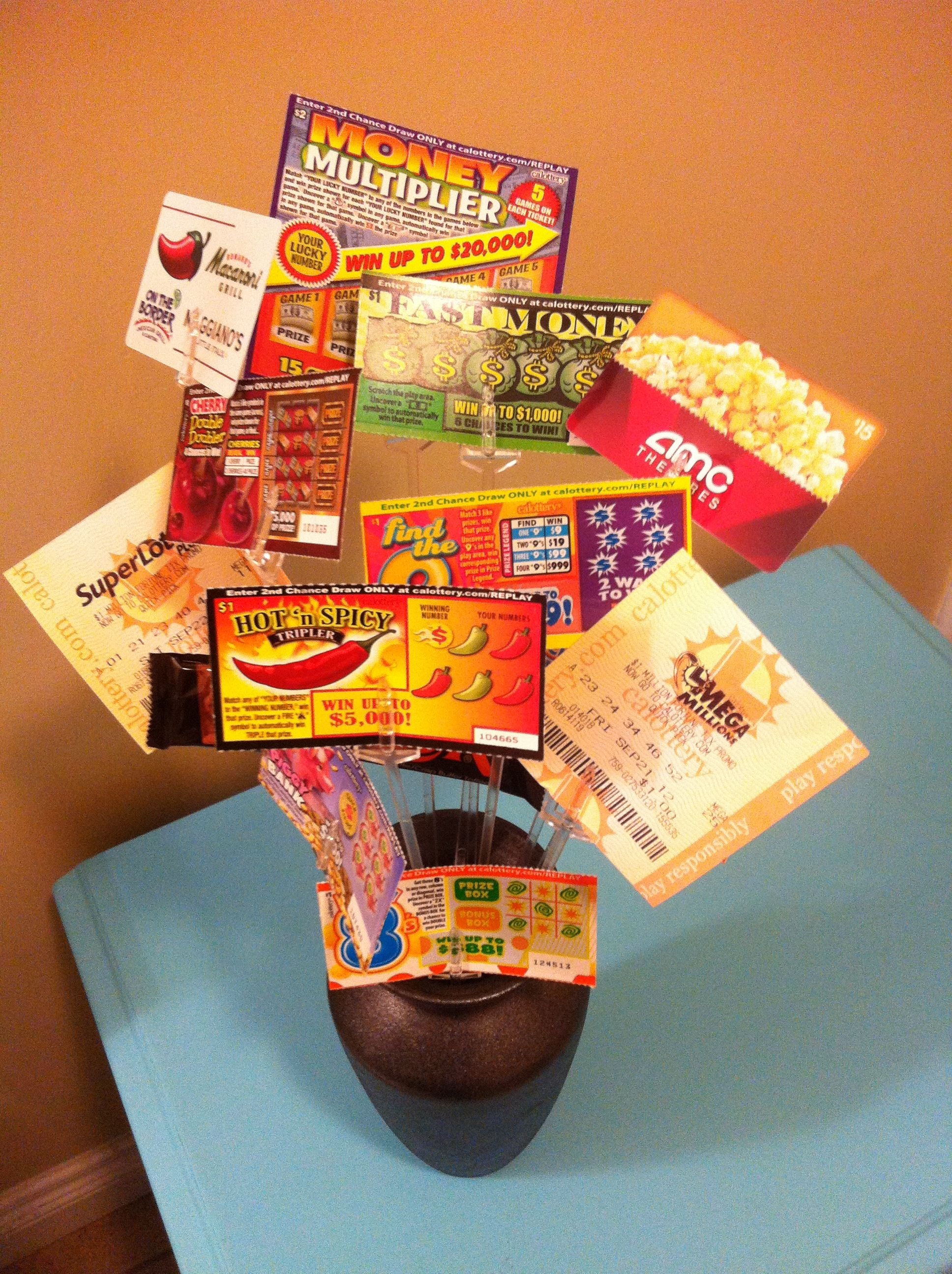 Awesome Gift Card & Scratchers Birthday Bouquet!! | Christmas gift ...