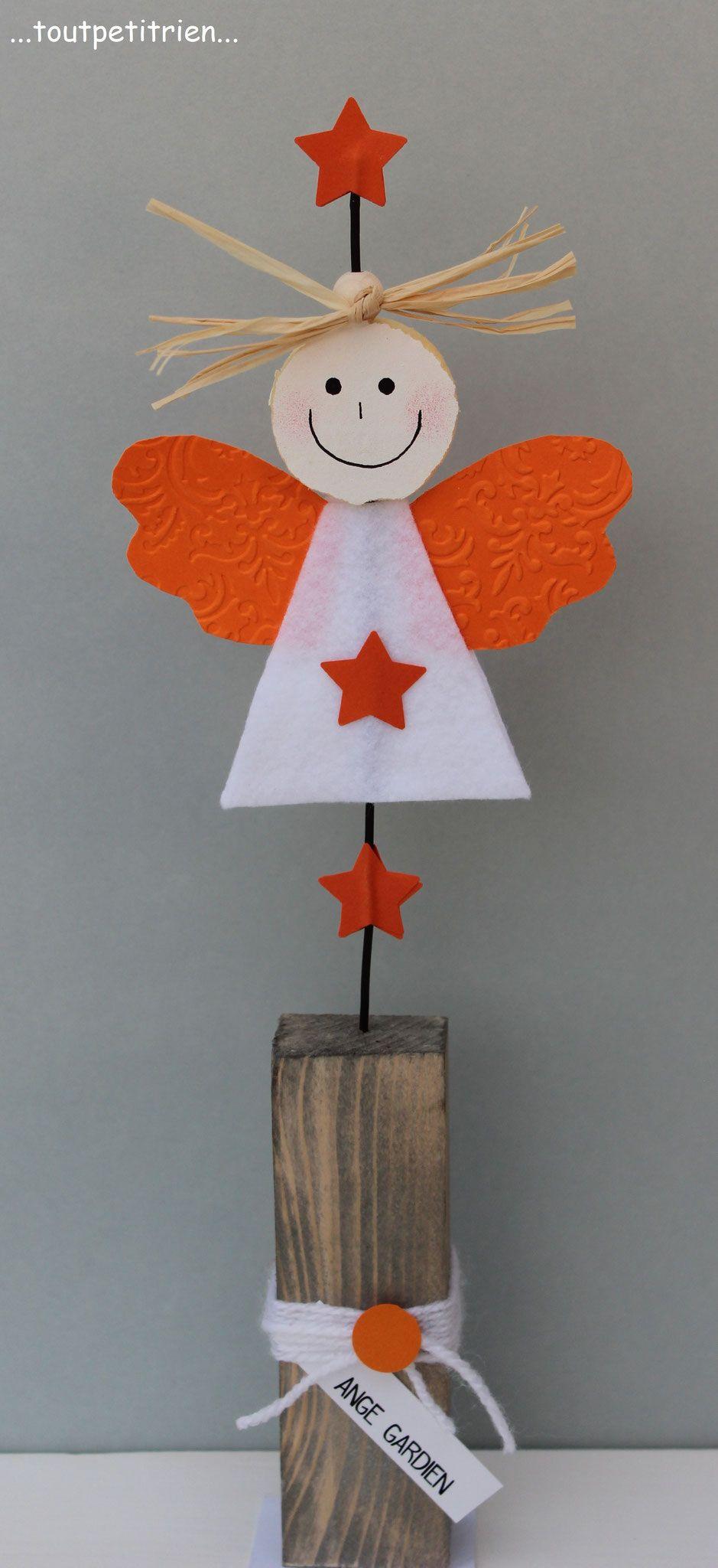 Bricolage enfants noel un ange gardien en feutrine et - Bricolage enfant noel ...