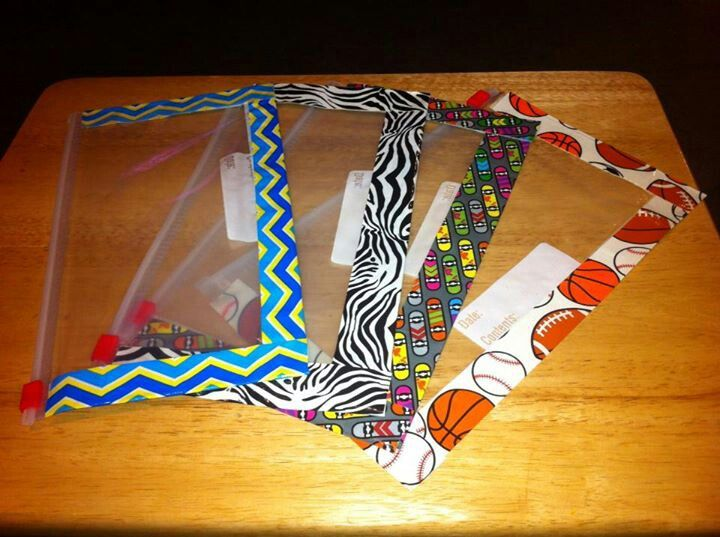 Duct Tape Craft Ideas For Kids Part - 39: These R Pencil Bags Made Out Of Ziploc Bags U0026 Duct Tape. Can Probably Be