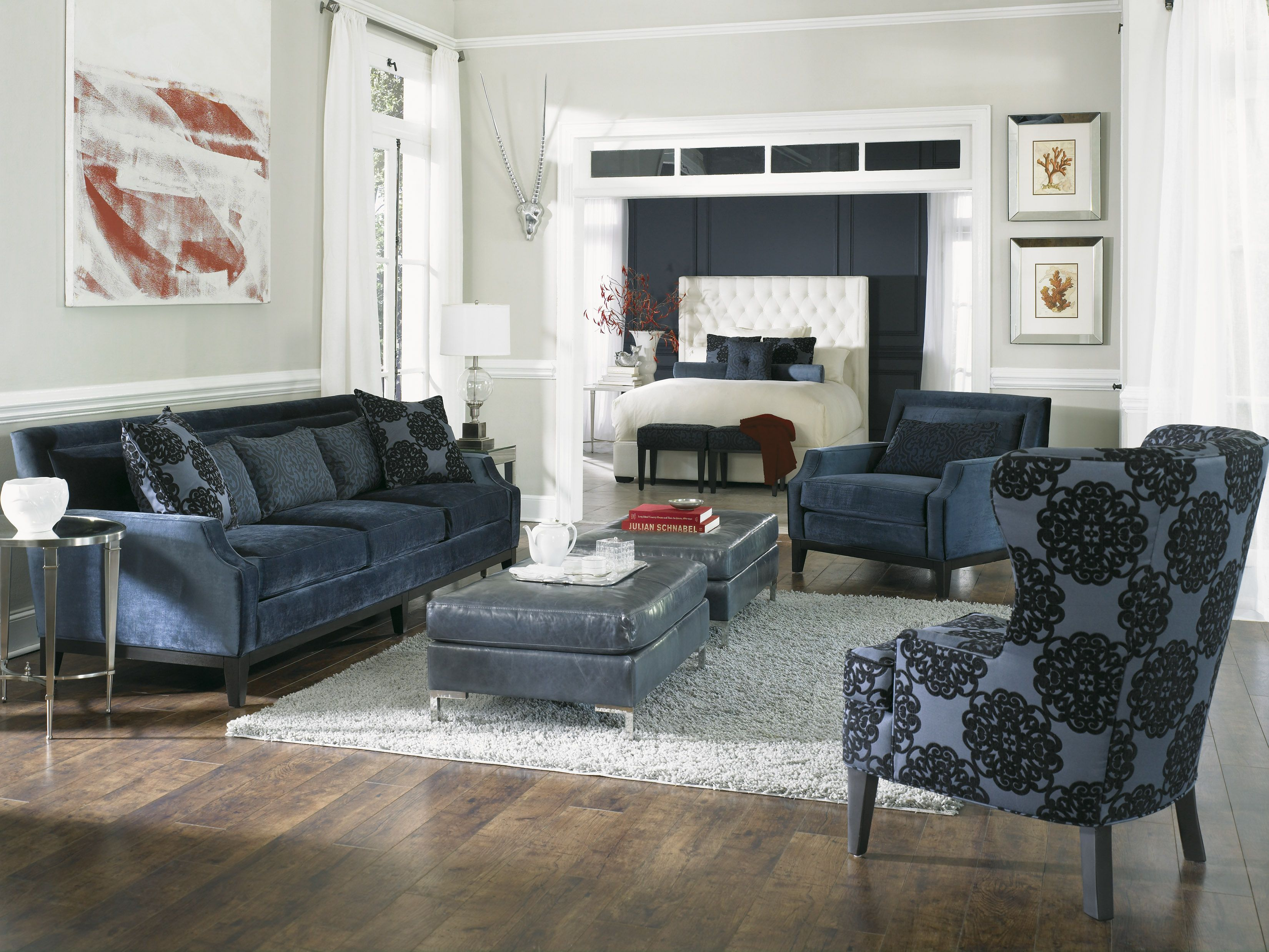 Accent chairs ottomans living room
