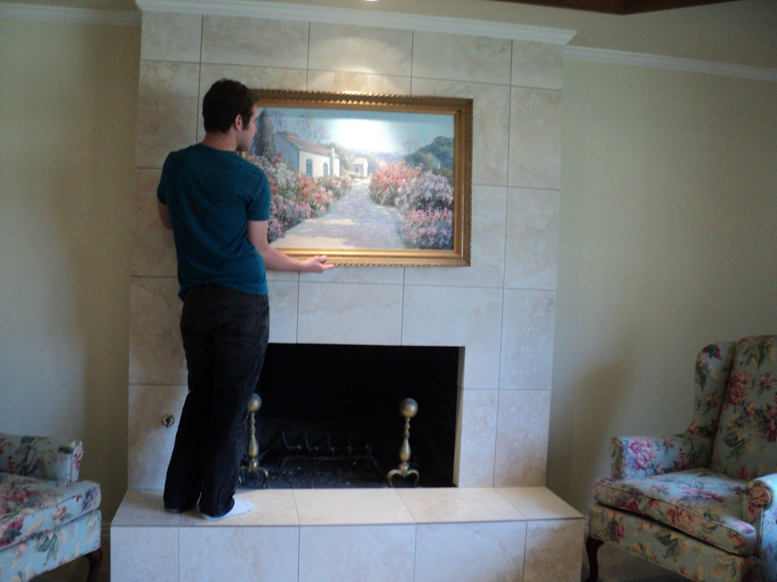 Image Result For Tile Over Brick Fireplace Ideas Brick Fireplace Brick Fireplace Remodel Fireplace Remodel