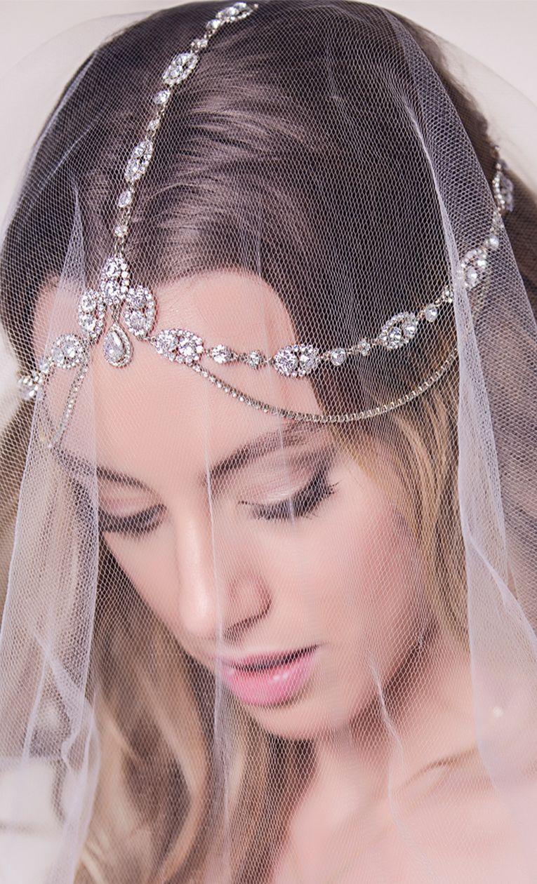 Cleo Swarovski Tiered Headpiece | Arcos, Casamiento y Patos