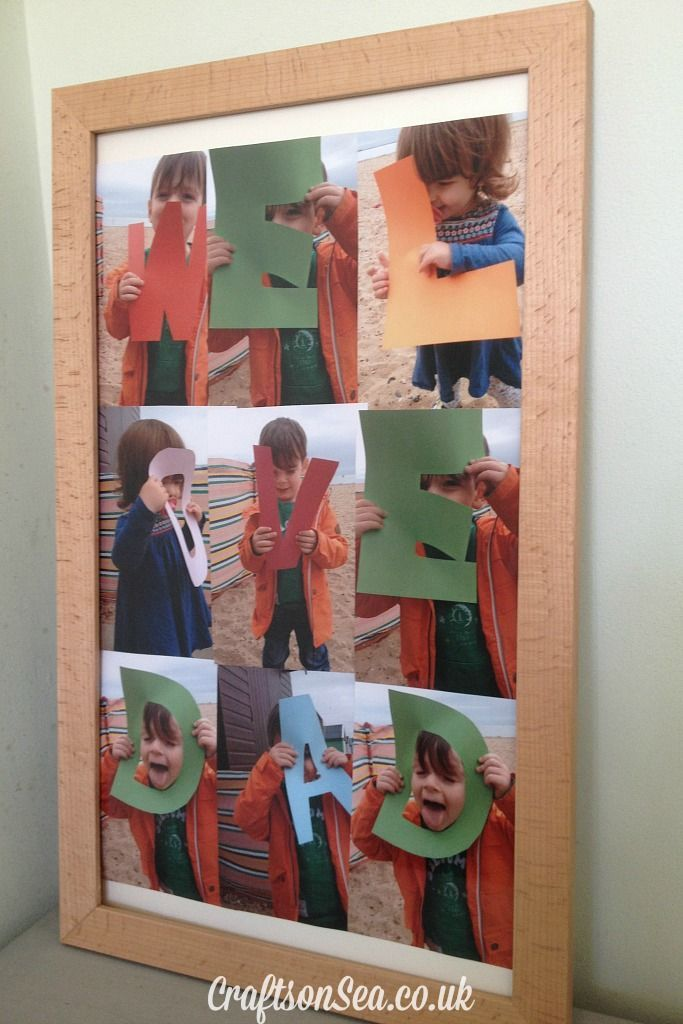 Father's Day Photo Ideas #TruprintDads - Crafts on Sea