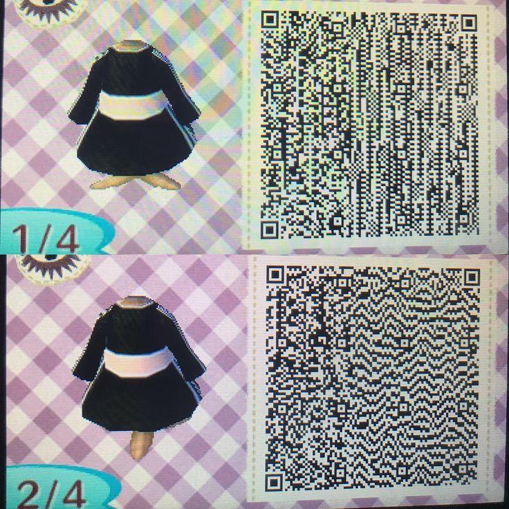 acnl qr code kleid mit schwarzer jacke