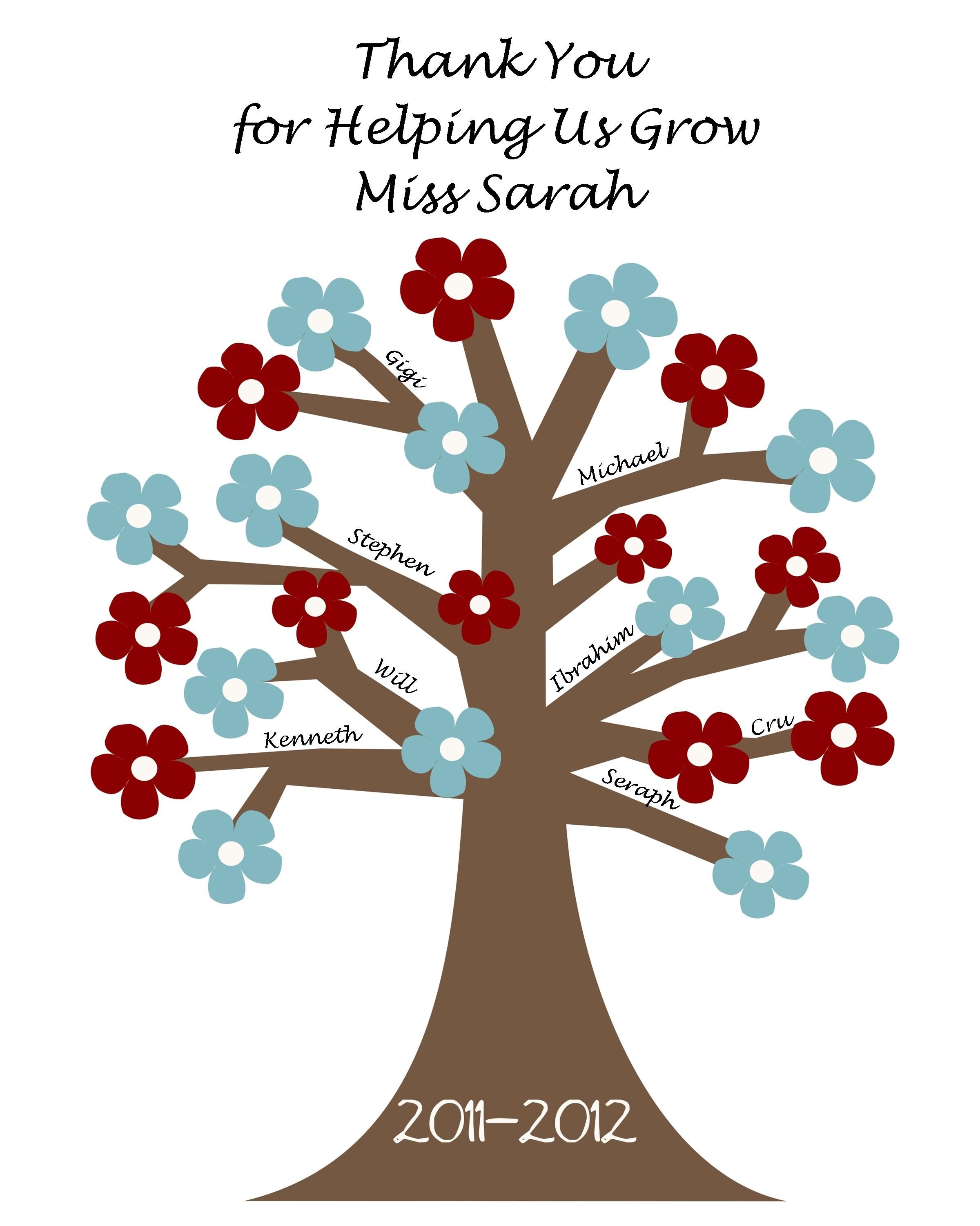 Thank You Quotes For Helping: Thank You For Helping Us Grow Tree