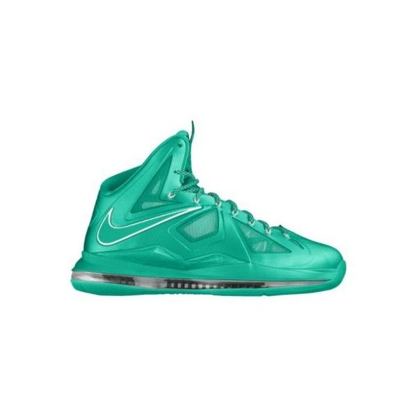 Nike LeBron X iD Custom Women's Basketball Shoes Green, 9 (220