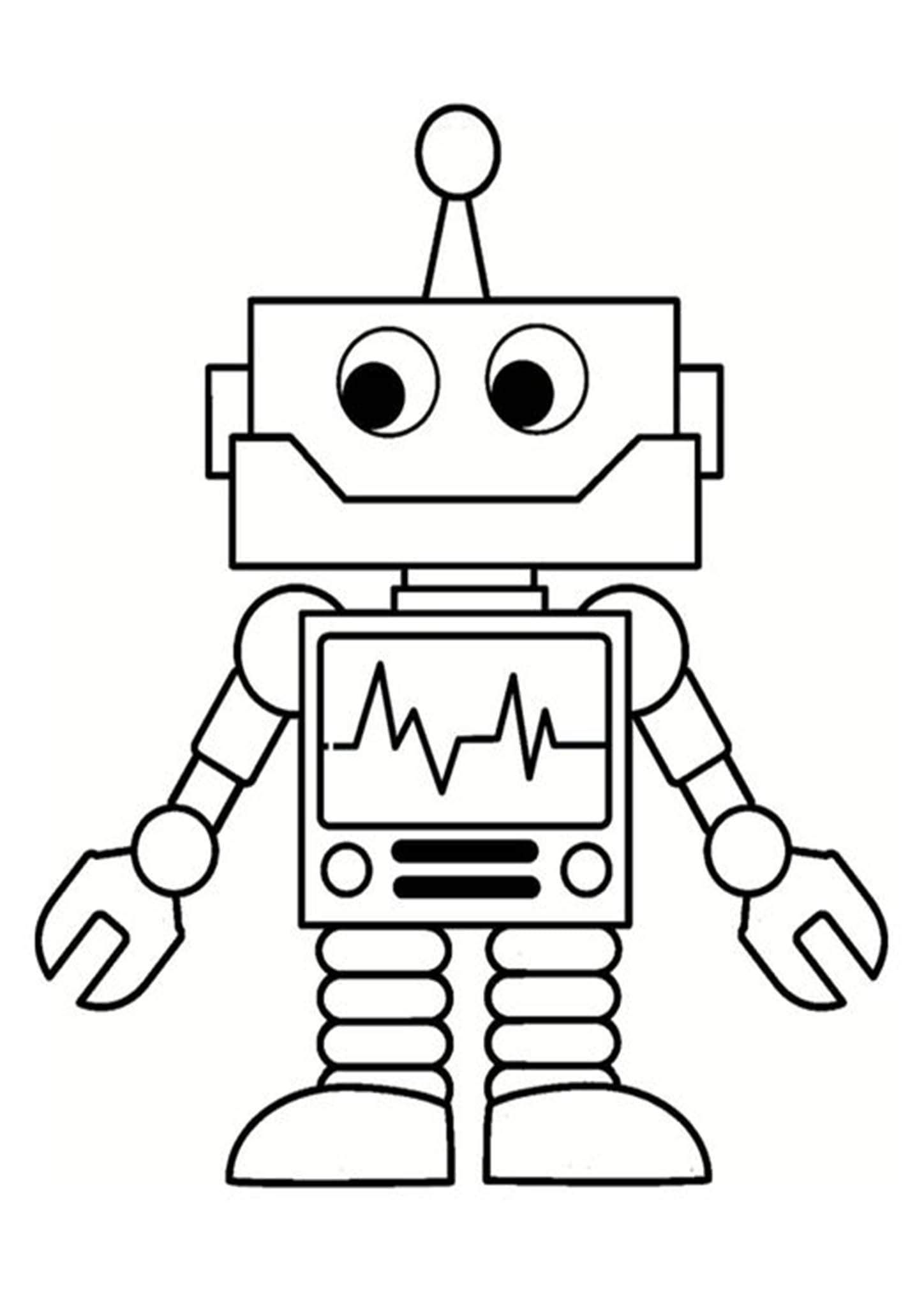 Free Easy To Print Robot Coloring Pages Robots Drawing Robot Art Robots For Kids