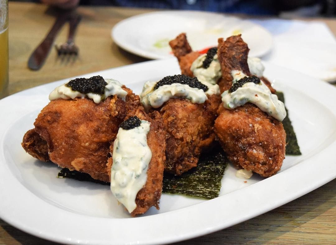 OS] Caviar and fried chicken at Momofuku Noodle Bar in