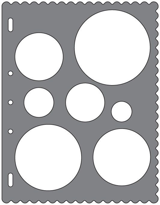 Fiskars Shape Template Circles  Felt Boards