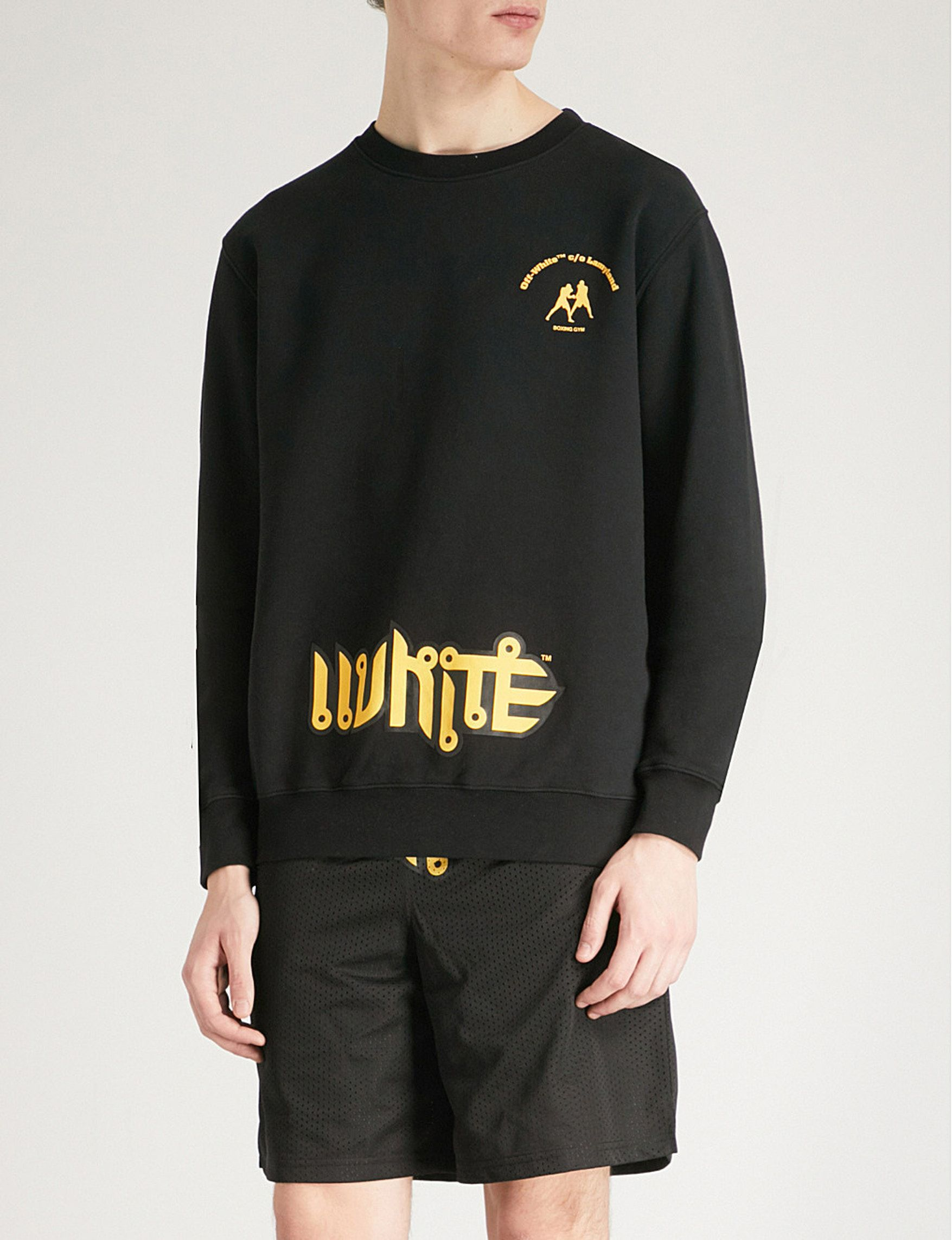 Off White Introduces Boxing Themed Lamyland Merchandise Boxing Clothes Mens Streetwear Jersey Sweatshirt [ 2285 x 1755 Pixel ]