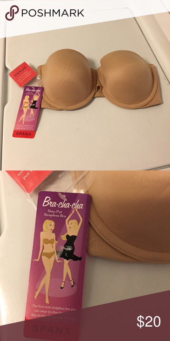 bd3a8fe752 Spanx Bra-Cha-Cha® Stay-Put Strapless 32 d Nude The first-ever stay ...