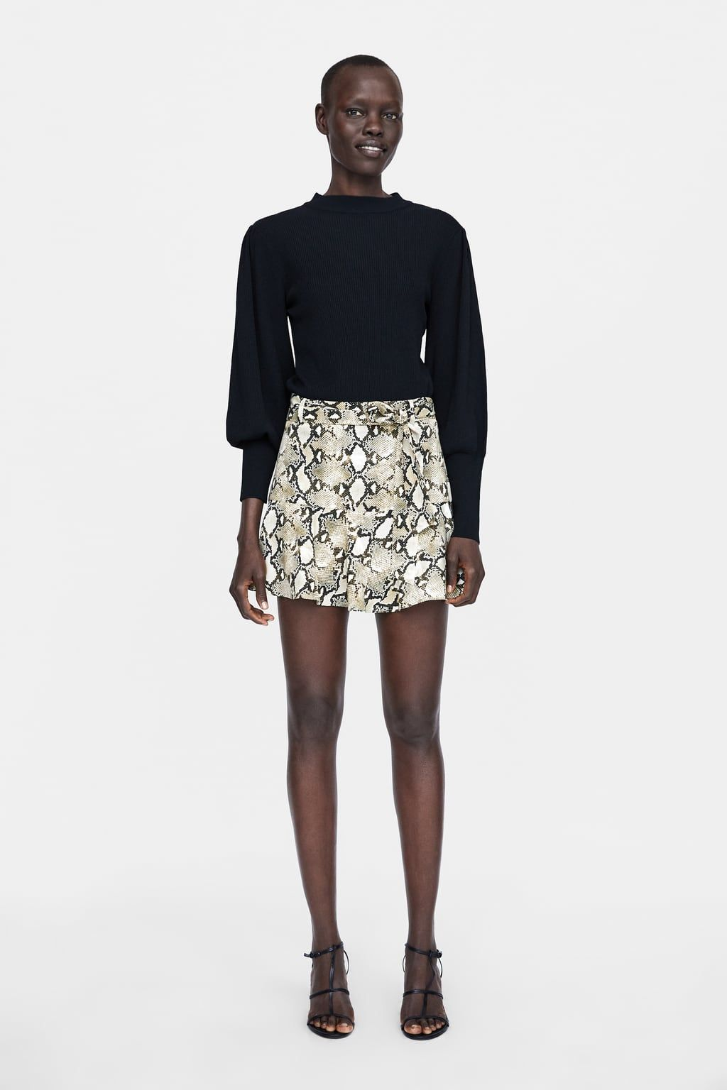 492153f2c Image 1 of ANIMAL PRINT SHORTS from Zara   Fashion   outfits   Ropa ...