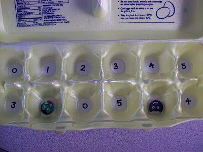 Egg carton addition game