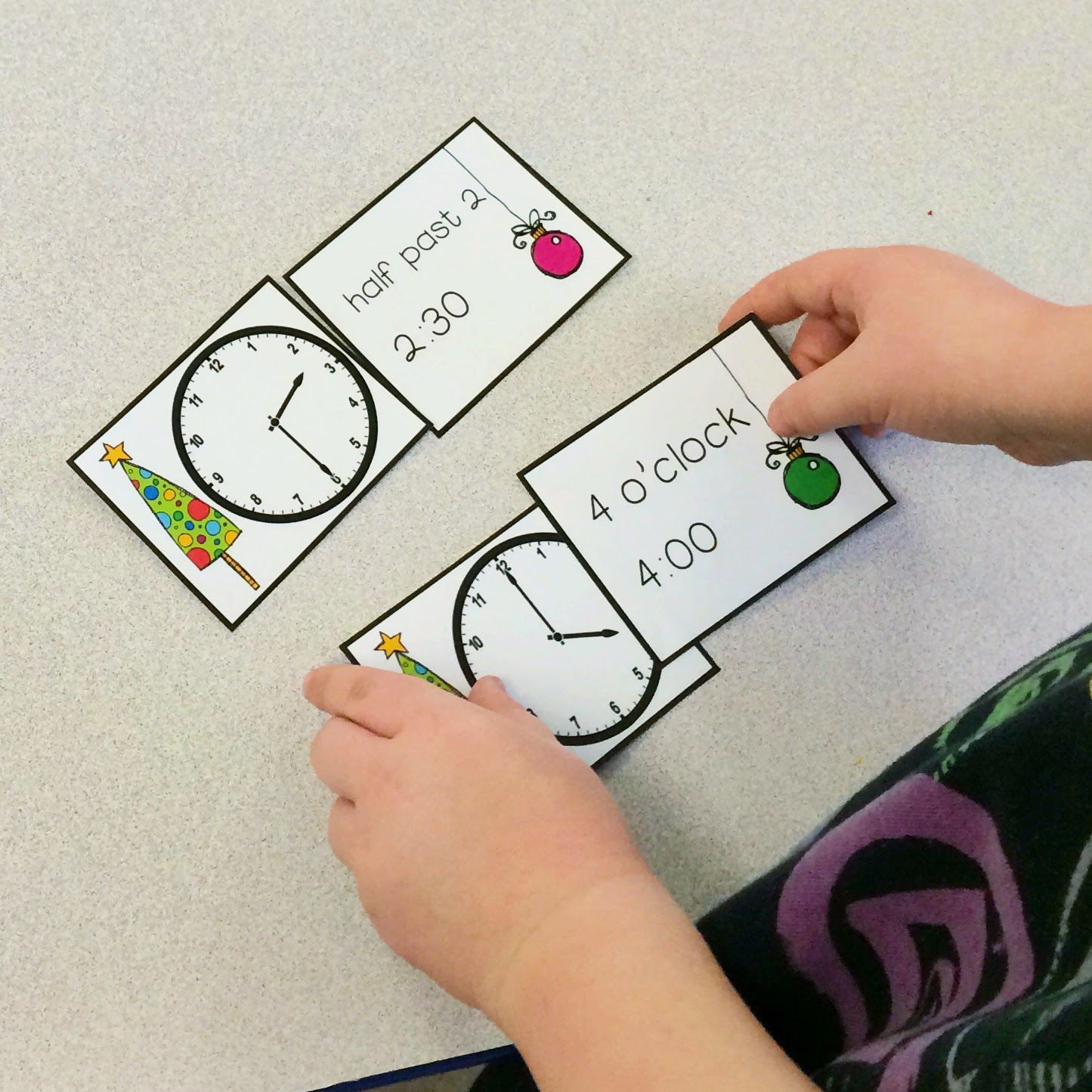 FREE Time Matching math centres: matching analogue, digital, and written times