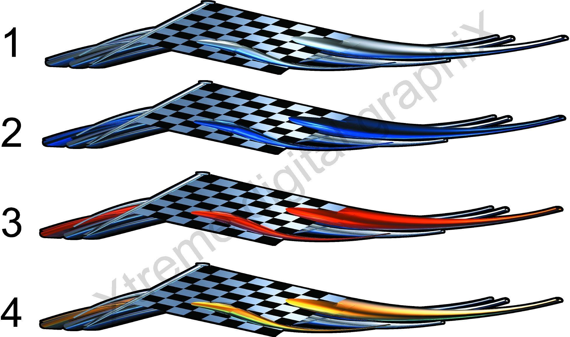 Checkered Flag Racing Wing Vinyl Decals For Cars Trucks Trailers And Boats 2 Car Decals Car Tattoos Vinyl Decals [ 1156 x 1955 Pixel ]