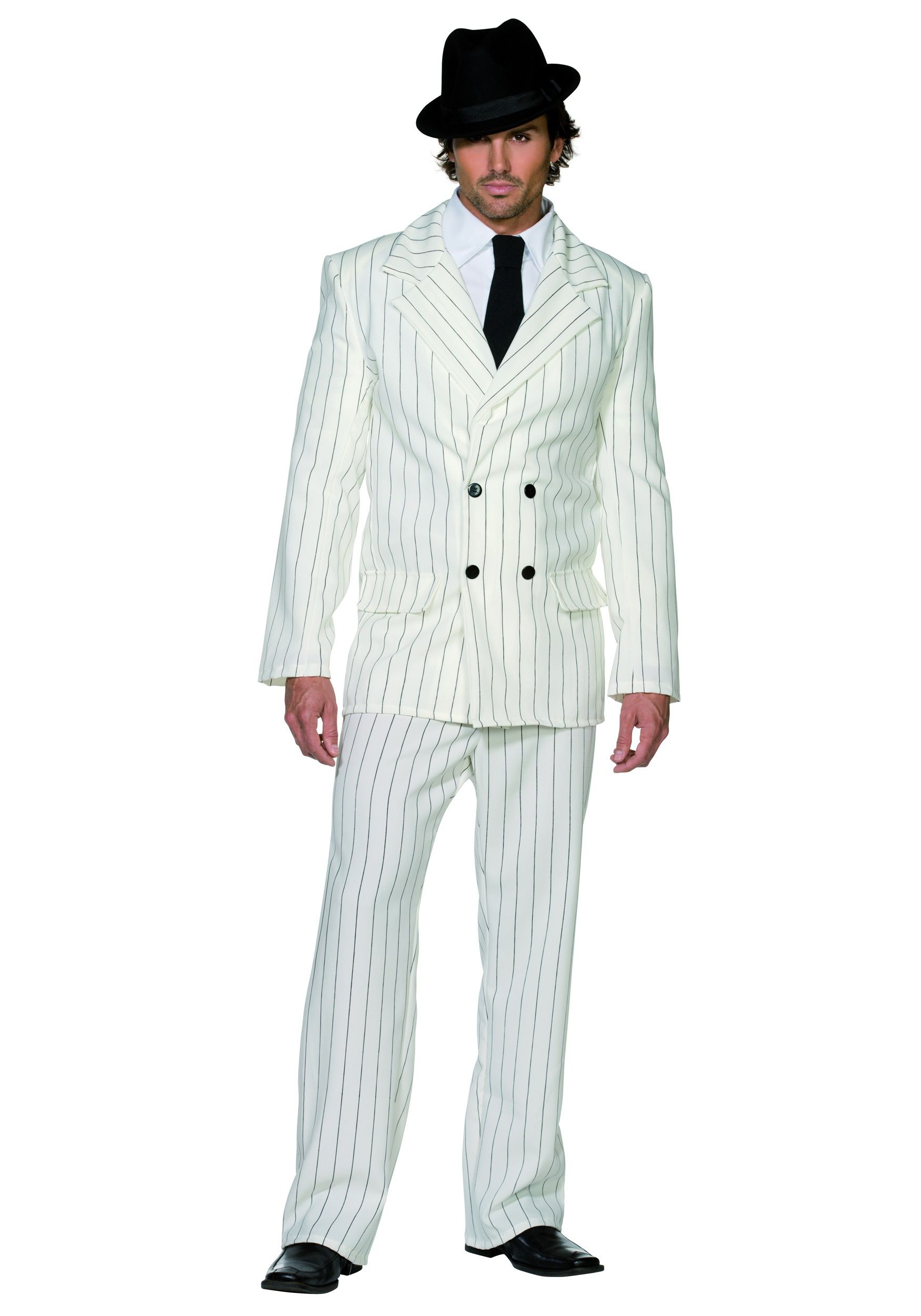 mens white gangster costume - Halloween Mobster Costumes