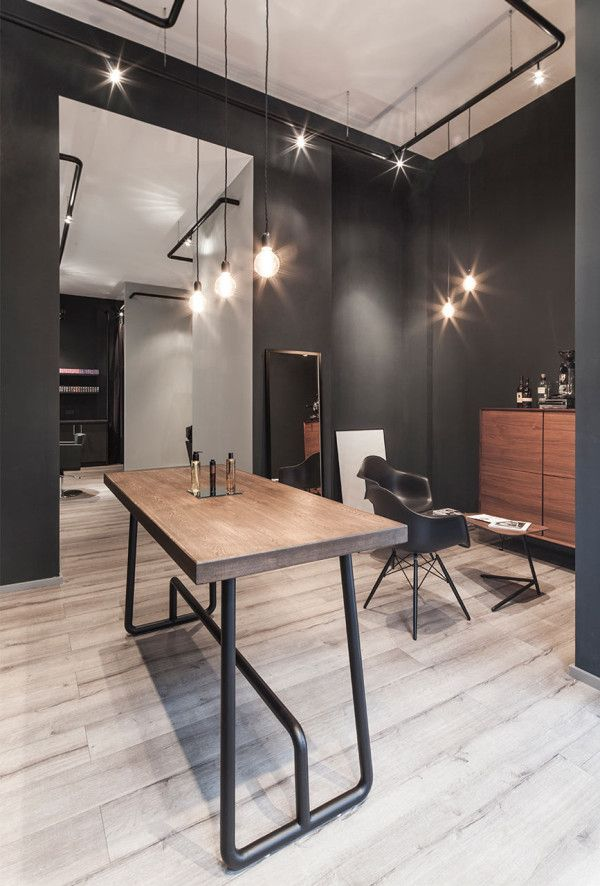 a minimalist hair salon in d sseldorf contemporary. Black Bedroom Furniture Sets. Home Design Ideas