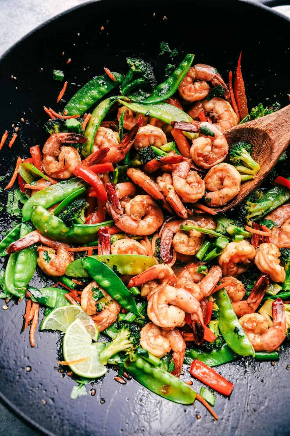 Easy 15-Minute Garlic Shrimp Stir Fry Recipe | The Recipe Critic