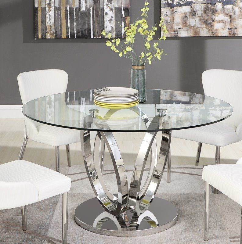 Wilder Dining Table Glass Round Dining Table Glass Dining Room Table Dining Room Table Decor