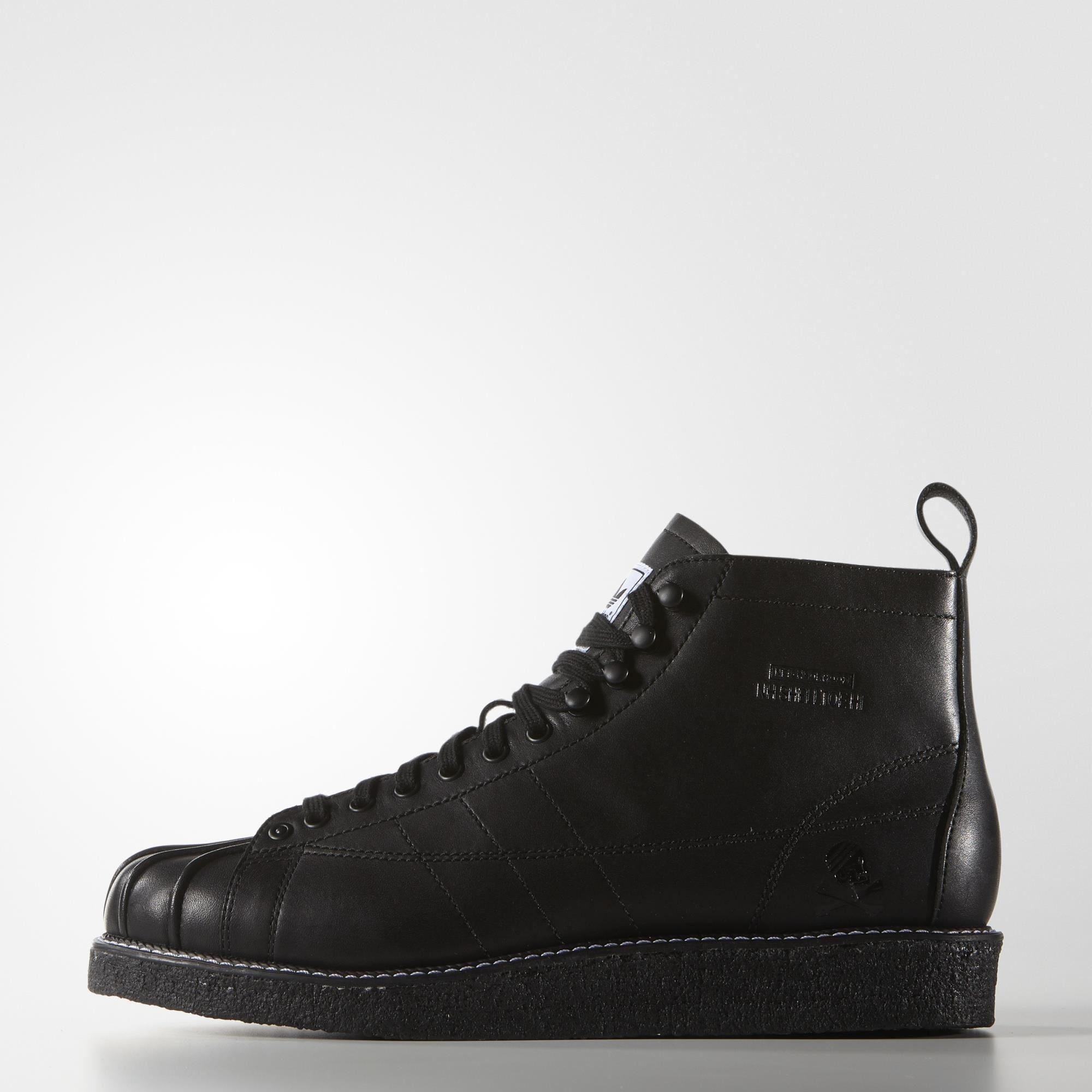 new arrival ae68a 63901 Adidas Neighborhood Shell-Toe Boots | footwear | Adidas shoes, Black ...