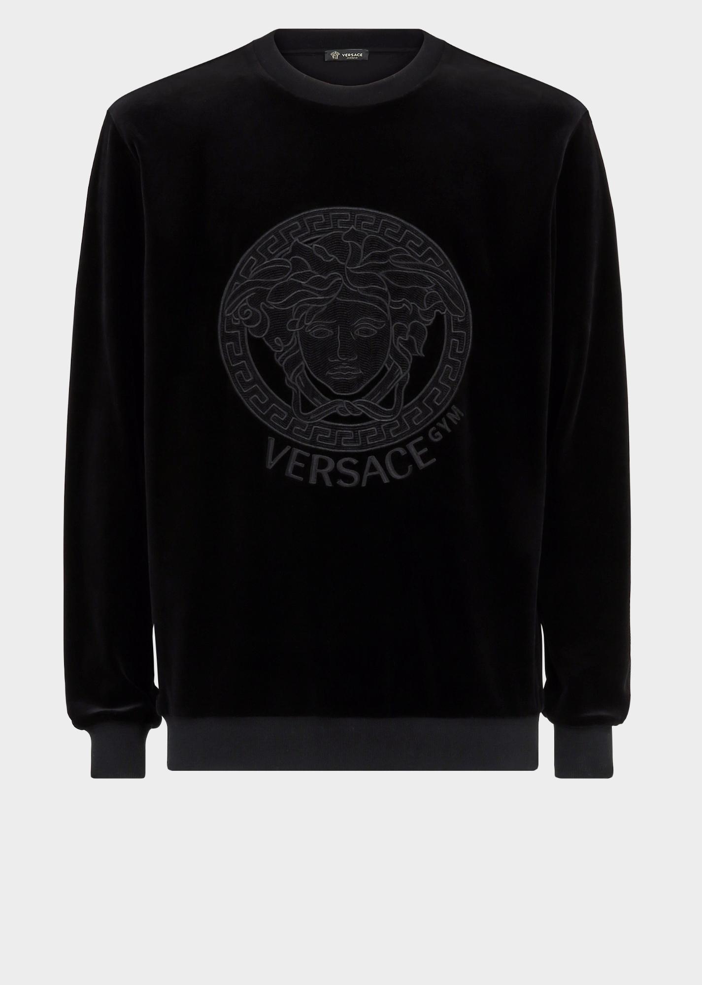 20bf2a50 VERSACE Velvet Medusa Sweatshirt. #versace #cloth | Versace ...