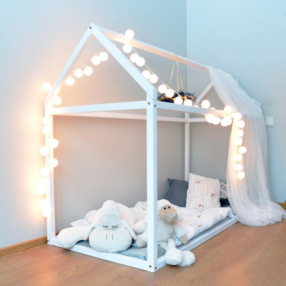 toddler bed house bed pine wood wooden bed montessori bed tent bed kids tent kids tepee. Black Bedroom Furniture Sets. Home Design Ideas