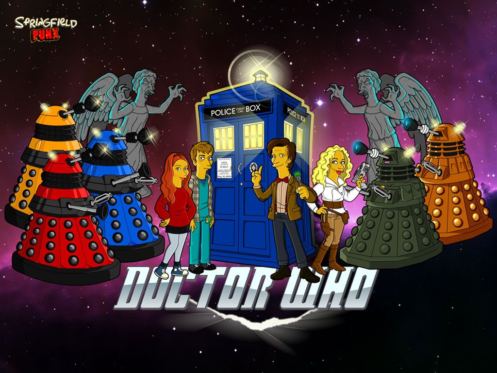 simpsons meet doctor who Doctor who wallpaper, Doctor