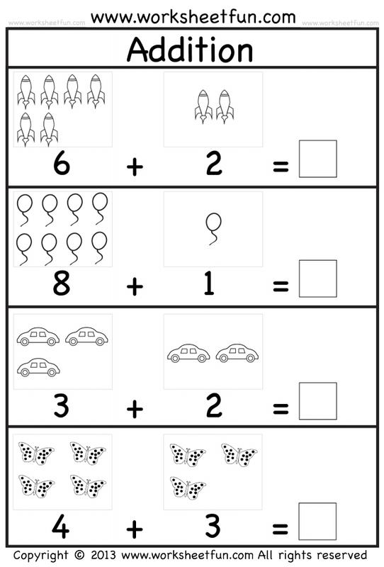 Stage 2 Kindergarten Addition Worksheets Preschool Math Worksheets Free Preschool Worksheets