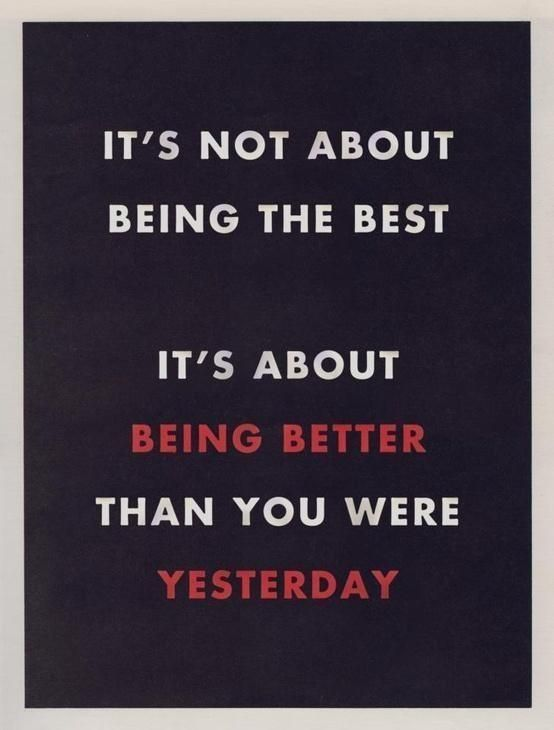 Be Better Than You Were Yesterday Even If Its Only By A Little Bit