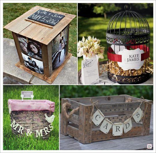 Urne mariage retro vintage boite bois photo cage ancienne cagette panier pique nique caisse bois - Urne mariage originale ...
