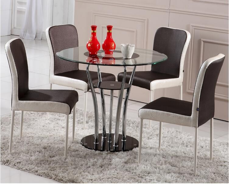 Tempered Glass Round Table Double Round Table Small Family