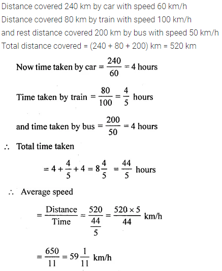 Selina Icse Class 6 Maths Solutions Pdf Chapter 17 Idea Of Speed Distance And Time 9 Mathematics Learning Mathematics Maths Solutions
