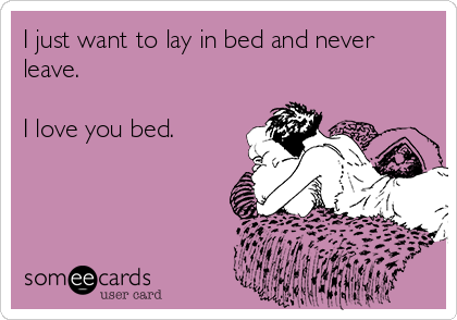 I Love My Bed i just want to lay in bed and never leave. i love you bed. | humor