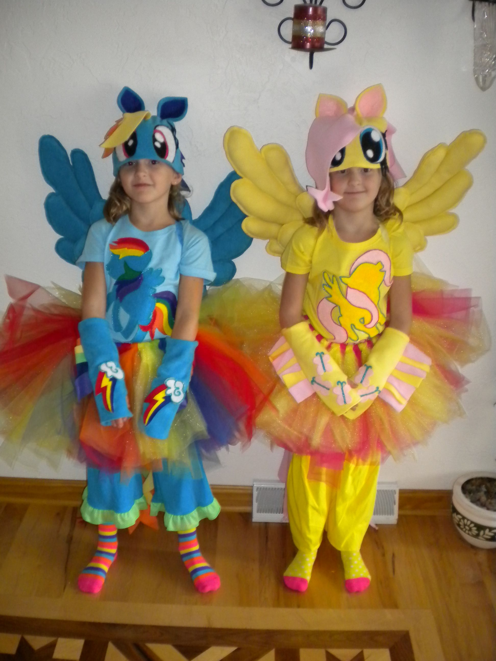 rainbow dash and fluttershy from y little pony. this years halloween