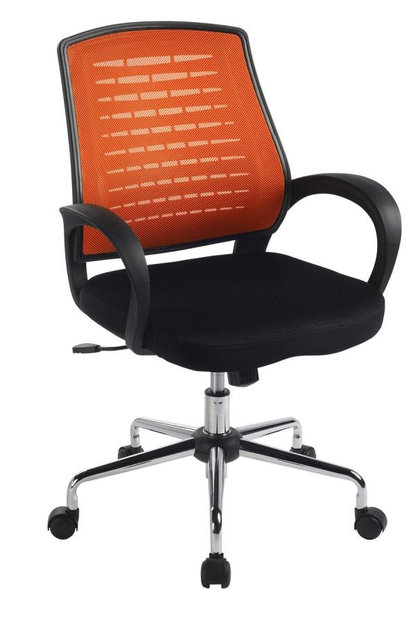 Carousel Orange Mesh Office Chair Direct Supply