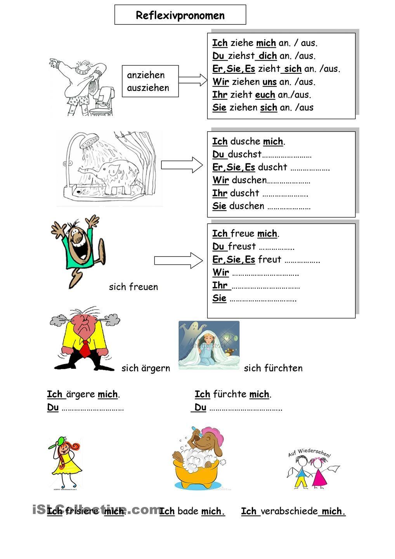 Worksheets German Grammar Worksheets possessiv reflexiv german grammar and worksheets reflexiv